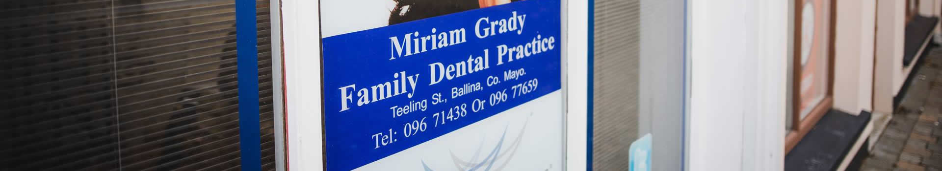 Pricing - Miriam Grady Dental Practice